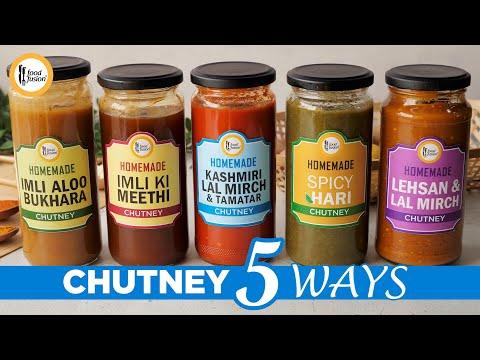 [Quick Recipes] 5 Storable Chutney (Ramzan Special) - English Urdu