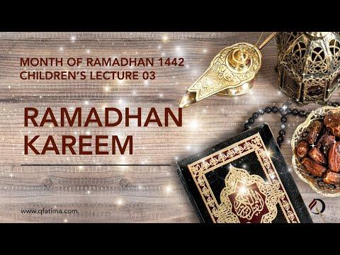 Month Of Ramadhan 1442 Children Lecture PIII   Quran Recitation & Short Duas   English