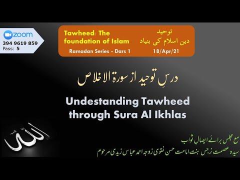 ZOOM Dars   Dars Tauheed az Sura Ikhalss I Syed Zaki Baqri   Urdu