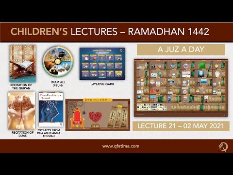 Month Of Ramadhan 1442 | Children Lecture PXXI | Quran Recitation & Short Duas | English