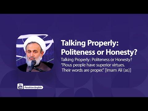 [Clip] Talking Properly: Politeness or Honesty | Agha Ali Reza Panahian Farsi Sub Urdu