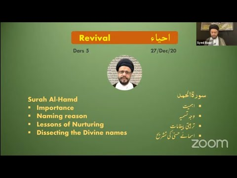 🔴Live Online ZOOM Dars#5 | Public Live Questions With Zaki Baqri |Quran: Constitution of Mehdi A.S | Urdu
