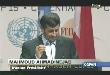 Ahmadinejad Climate Change Summit Speech Copenhagen - English