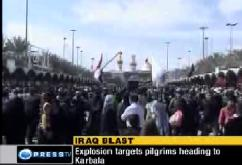 PILGRIMS continue to commemorate Arbaeen despite the Massive BLAST in Karbala - 03Feb10 - English
