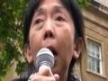 Freedom Flotilla Massacre protest   Dr Swee Chai Ang   London 31 May 2010 - English