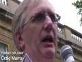 Freedom Flotilla Massacre protest   Craig Murray   London 31 May 2010 - English
