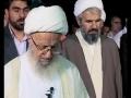 Salat-e-Maghrib at Sehan-e-Razavi Mashad by Grand Ayatollah Makarem Shirazi ha - Arabic