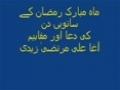 [Audio] 7th Dua-E-Ramazan - Tafseer - Syed Ali Murtaza Zaidi from Dubai - Urdu