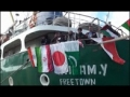 Asian Caravan Aid Ship Departing Towards Gaza From Syrian Port - Arabic English Persian