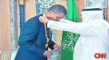Saudi king awards gold necklace to Obama - For his efforts to CONTINUE Tyranny, Occupation, Injustice, Imperialism etc e