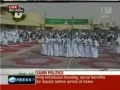 Saudi celebrate arrival of 86-year-old Dictator - 23 Feb 2011 - English