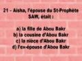 QCM Tarikh 8 Lecons 9 a 12 1/2 - Francais