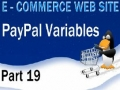 19 E Commerce Website PHP Tutorial PayPal HTML Shopping Cart Variables - English