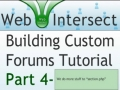 4 Web Intersect Forum Tutorial Programming the section php PHP Script - English