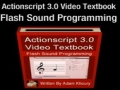 5 Actionscript 3.0 Sound Programming Video Textbook Flash CS4 CS5 MP3 Tutorials - English