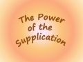 Power of Supplication - English