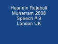 Hasnain Rajabali Muharram UK 2008 Night 9 - English