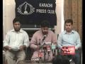 امامیہ اسٹوڈنٹس آرگنائیزیشن کی پریس کانفرنس، کراچی - ISO Press Conf. - Urdu