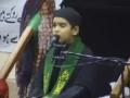 Majlis recited by 9 year old kid - Urdu