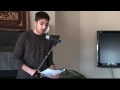 [Youth Majlis] - Speech by Azeez on WATER for WAZOO- English