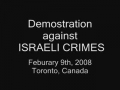 Toronto Demonstration Feb 2008
