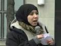 Yusur Al Bahrani on - NO WAR ON IRAN - Rally in Toronto 04 Mar 2012 - English