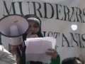 [9] Speech by Sr. Nisma Rizvi - Protest @ Pakistan Embassy, Washington DC - 14Apr12 - English