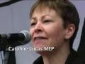Caroline Lucas MEP - World Against War Demo 15 March 2008