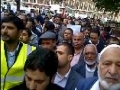 Muslims protest outside US embassy in London - 21SEP12 - Urdu, Hindi, Arabic