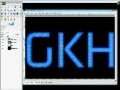 GIMP Tutorial: 3d gloss text - English