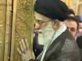 Ayatollah Khamenei cleaning the grave of Imam Raza (a.s) - All Languages
