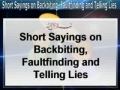 Backbiting Faultfinding & Telling lies - Arabic with English