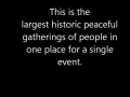 Largest historical peaceful gathering - 2013  - Urdu