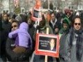 Toronto Protest For Sibte Jafar- Br. Anis Reciting Munqabat (Jab Ali Aagaey) 23Mar2013 - English