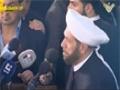 [23 Mar 2013] Mufti Hassoun in funeral of Sh Bouti المفتي حسون في تشييع الشيخ البوطي Arabic