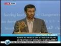 International Food Crisis Italy - Ahmadinejad - English