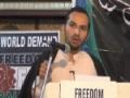 [AL-QUDS 2013] International Quds Conference - Hyderabad, India - Moulana Agha Munawar Ali -  Urdu