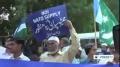 [08 Nov 2013] Pakistanis protest against US drones attacks - English