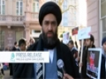 Majlis-e-Ulama Shia Europe sit in outside the Pakistan Embassy - English