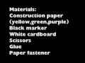 How to make a construction paper snail card with movable head - English