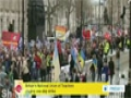 [26 Mar 2014] British teachers protesting over pay, pensions - English