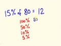 Percentage - Solve percentages mentally - percentages made easy with the cool Math trick English