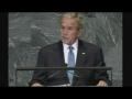 George Bush - Delusional hypocrite at the UN - English
