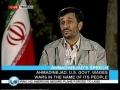 President Ahmadinejad Interview Short - 7th October 2008 - English