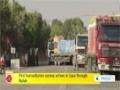 [27 Aug 2014] First humanitarian convoy arrives in Gaza through Rafah - English