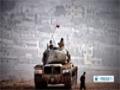 [13 Oct 2014] Fighting underway between Kurdish fighters and ISIL terrorists, north of  Kobani - English