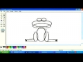 Drawing cartoon animals frog in MS paint English pt4