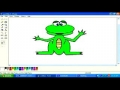 Drawing cartoon animals frog/cat in MS paint English pt8