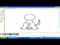 Drawing cat in MS paint English 5
