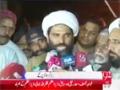 لبیک یاحسین لانگ مارچ | علامہ مقصود دومکی کی میڈیا سے گفتگو - Urdu